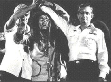 Michael Manley, Bob Marley & Edward Seaga
